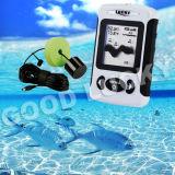 Fishfinder portatile del sonar della matrice a punti con il giocatore dell'affissione a cristalli liquidi (FF718)