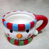 Tasse en céramique peinte à la main de vaisselle de Noël (GW1273)