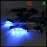 2X6 Blue LED Police Car Grill Lights
