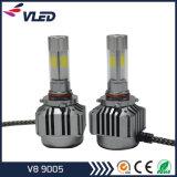 Fabrik-Versorgungsmaterial COB 72W Automobil-LED-Scheinwerfer 6000K V8 9005