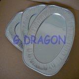 Glühender Aluminiumfolie-Ofen-Tellersegment-Behälter mit Kappen (AFC-002)