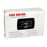 차 컴퓨터 차 차 OBD 여행 컴퓨터 연료 미터 X100 OBD Hud 색깔 여행 컴퓨터