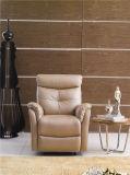 Sofa de cuir véritable de salle de séjour (C783)