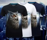 T-shirt 100% estampé par animal occasionnel du coton des hommes 3D