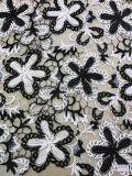 熱い販売法の倍は服0010のための100%年のポリエステルレースファブリック衣服をAccessorie着色する
