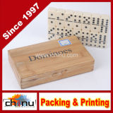 Six dobro Professional Dominoes com o girador de Brass em Wooden Caso 28 Piece
