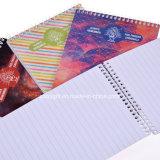 Caderno espiral feito sob encomenda de tampa de cartão da impressão B6