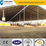 Alta tettoia facile della mucca della struttura d'acciaio di configurazione di Qualtity di basso costo
