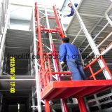 Elevación de mercancías hidráulica vertical del almacén para el material móvil