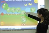 Constructeur interactif bon marché de la Chine de panneau d'école de téléconférence de qualité de contact véritable de doigt