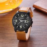 2017新しい方法腕時計46mmcase IPのめっきによって着色される黒い革バンド