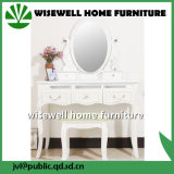 Conjuntos de cômoda de quarto branco com espelho (W-HY-010)