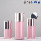 bouteille et choc privés d'air cosmétiques acryliques en plastique de pompe de qualité de bouton poussoir de 15g 30g 50g