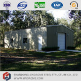 Costruzione di edifici chiara prefabbricata della struttura d'acciaio