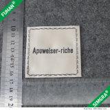 Etiqueta tecida Endfold barata feita sob encomenda do cetim da roupa