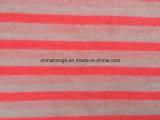 Hacci 100%T Hilado-Teñe la tela que hace punto de la gata de Stripe& con fluorescente