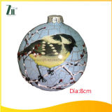 Birdの青いChritsmas Glass Ball