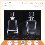 füllende Glasflasche des wodka-600ml, Glaswhisky-Flasche, Spiritus-Wein Botle
