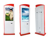 65 Zoll-Fingerspitzentablett-Fußboden, der Digitalsignage-interaktiven Bildschirm-Monitor-Kiosk steht