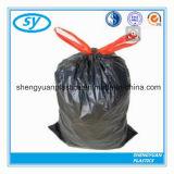Sacs d'ordures en plastique de détritus de vente chaude avec le cordon