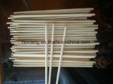 palillos de bambú redondos de los 20cm/23cm para el sushi con insignia