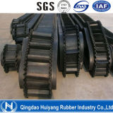 Sidewall acanalado Rubber Conveyor Belt (transporte 0-90degree)