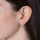 Het Kristal van de Juwelen van het lot van de Elegante Oorringen van de Nagel van de Bloem Swarovski