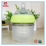 Fles van de Melk van het Silicone van de Rang van het voedsel de Pasgeboren 120ml/220ml