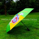 Parapluie pliable personnalisé par impression automatique de Digitals pour la publicité (FU-3821BFA)