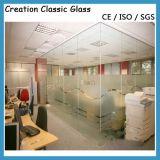 vidro geado gravado Aicd de 12mm para a porta do edifício