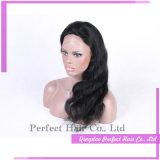 Любым цветом может быть подгонянный парик шнурка человеческих волос полный
