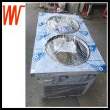 Machine van het Broodje van het Roomijs van het Roestvrij staal van Thailand de Dubbele Pan Gebraden
