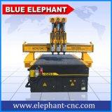 Máquina 1325 do router do CNC de Ele Jinan feita em China com o multi eixo refrigerar de ar de 4.5kw Hsd com sistema pneumático