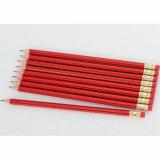 Crayons hexagonaux de qualité avec l'extrémité d'enduit et de gomme à effacer de piste