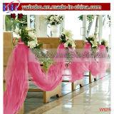 Productos rosados brillantes del partido de Tulle del favor del banquete de boda de la decoración de la boda (W1015)