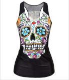 Tie-Dyed Patrón Floral 3D Hip-Hop Lovely Mujeres flacas Vest Tee