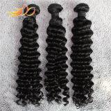 100%のマレーシア人のバージンの毛のWeft深い波の人間の毛髪の拡張
