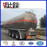 Aanhangwagen van de Vrachtwagen van de Tanker van de Brandstof van de tri-As van de Aanhangwagen 45000L van de Tanker van de Brandstof van het roestvrij staal de Semi
