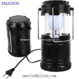 Luzes de acampamento recarregáveis da lâmpada da lanterna da barraca da tocha da bateria solar do diodo emissor de luz