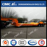 4axle Lowbed Semi-Trailer mit Removable Hydraulic Gooseneck