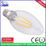 A60 E27 Edison 4W LED 필라멘트 백열 전구