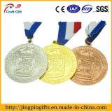 2017wholesale de 2D en 3D Medaille van uitstekende kwaliteit van de Gravure van de Medaille van de Sporten van het Metaal van het Embleem met Kleurrijk Lint