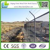 Гальванизированная загородка звена цепи с верхним рельсом