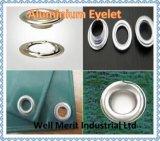 Tasto di alluminio dell'occhiello di alluminio di alluminio del gommino di protezione per la tela incatramata/tenda