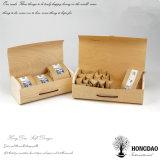 Caisse d'emballage en bois non finie en gros de sachets à thé de Hongdao avec le _E articulé de couvercles
