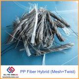 De Materiële Vezel PP/Polypropylene van de concrete Versterking van Draai en Hybride