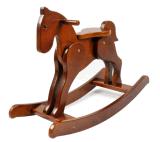 Balancim Brinquedo-De madeira do cavalo do cavalo de balanço da fonte da fábrica