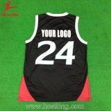 Il nuovo nero di colore di disegno delle uniformi della Jersey di pallacanestro di disegno