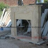 Бежевый мраморный Surround каминной доски камина (SY-MF002)