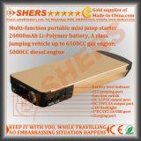 24000mAh 리튬 12V 차 시작 건전지 팩 USB 산출 LED 플래쉬 등 휴대용 퍼스널 컴퓨터 충전기 힘 은행 전원함을%s 휴대용 소형 자동 점프 시동기